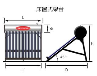 自然循環式太陽熱温水器サイフォンHP図説